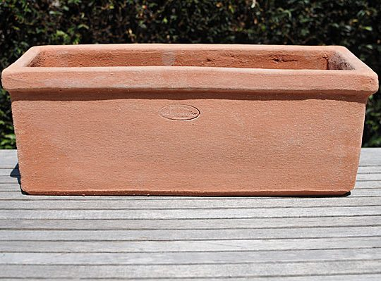Terracotta pot davanzale liscio