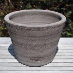 Colorato terracotta pot vaso senza bordo radda
