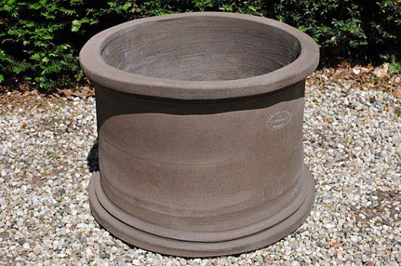 Colorato terracotta pot vaso 2 misuro tutto liscio