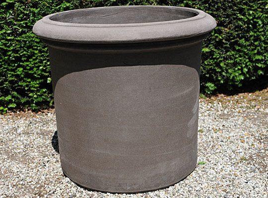 Colorato terracotta pot vaso cilindro con bordo