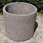 Colorato terracotta pot cilindro alto liscio