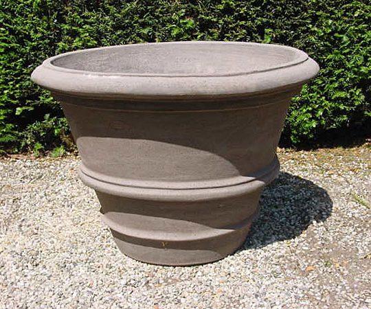 Colorato terracotta pot vaso con due orli