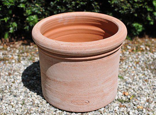 Terracotta pot vasetto leo