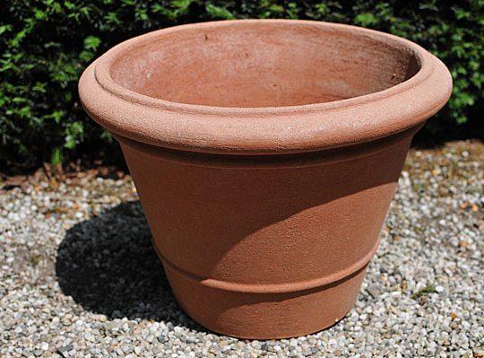 Terracotta pot vaso leonardo liscio