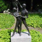 Bronzen beeld dansend paar groot